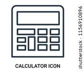 calculator icon vector isolated ... | Shutterstock .eps vector #1156910896