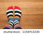 Woman Wearing Stylish Socks...