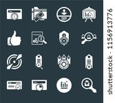 set of 16 icons such as spy ...