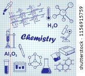 back to school. chemistry lesson   Shutterstock .eps vector #1156915759