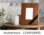 funeral photo frame with black... | Shutterstock . vector #1156918900