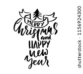 merry christmas and happy new... | Shutterstock .eps vector #1156924300