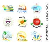 vector illustrations for summer ... | Shutterstock .eps vector #1156927693