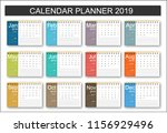 2019 calendar planner design....   Shutterstock .eps vector #1156929496