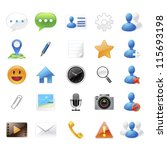 chat application icons and... | Shutterstock .eps vector #115693198