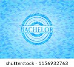 bachelor sky blue emblem with... | Shutterstock .eps vector #1156932763