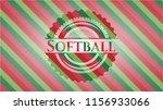 softball christmas badge... | Shutterstock .eps vector #1156933066