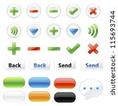 chat application icons and elements on white background : no.2 - stock vector