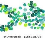 teal green tropical jungle...   Shutterstock .eps vector #1156938736
