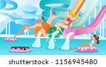 water slide vector illustration.... | Shutterstock .eps vector #1156945480