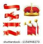 leader velvet crown with gold... | Shutterstock .eps vector #1156948273