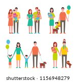 family members cartoon... | Shutterstock .eps vector #1156948279