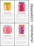 preserved food in jars info... | Shutterstock .eps vector #1156949983