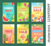 summer discount offer vector... | Shutterstock .eps vector #1156950049