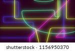 abstract dark colorful neon... | Shutterstock . vector #1156950370