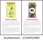 preserved food posters ... | Shutterstock .eps vector #1156952083