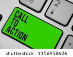 writing note showing call to... | Shutterstock . vector #1156958626