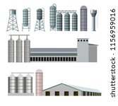 Set Of Farm Buildings And...