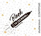back to school. isolated vector ... | Shutterstock .eps vector #1156959160