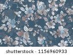 seamless floral digital design | Shutterstock . vector #1156960933