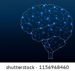 shares of the brain  low poly... | Shutterstock .eps vector #1156968460