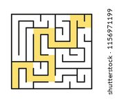 a square abstract labyrinth. an ... | Shutterstock .eps vector #1156971199