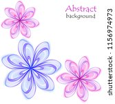 abstract multicolored flowers...   Shutterstock .eps vector #1156974973