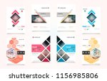set of design of brochure ... | Shutterstock .eps vector #1156985806