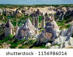 impressive fungous forms of... | Shutterstock . vector #1156986016