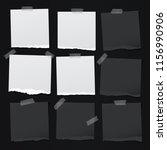 black  white note  notebook... | Shutterstock .eps vector #1156990906