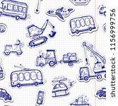 funny cars seamless pattern.... | Shutterstock .eps vector #1156999756