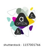 geometric triangle infographics ... | Shutterstock .eps vector #1157001766