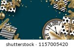 blue 2019 new year background... | Shutterstock .eps vector #1157005420
