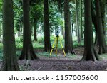 a land surveyors theodolite... | Shutterstock . vector #1157005600