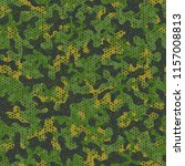camouflage seamless pattern.... | Shutterstock .eps vector #1157008813