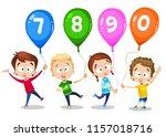 vector illustration of kids... | Shutterstock .eps vector #1157018716