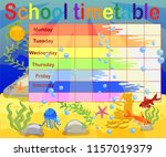 design of the school timetable... | Shutterstock .eps vector #1157019379