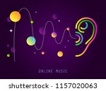 listening. ear. hearing or... | Shutterstock .eps vector #1157020063