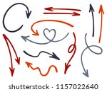 hand drawn diagram arrow icons... | Shutterstock .eps vector #1157022640