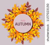 autumn leaves. bright colourful ... | Shutterstock .eps vector #1157023150