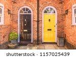 two residential front doors ... | Shutterstock . vector #1157025439