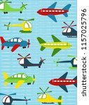 airplane and helicopter images... | Shutterstock .eps vector #1157025796