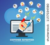 customer retention concept.... | Shutterstock .eps vector #1157034580