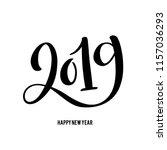 happy new 2019 year. vector... | Shutterstock .eps vector #1157036293