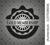 gold membership dark emblem.... | Shutterstock .eps vector #1157038036