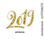 happy new 2019 year. vector... | Shutterstock .eps vector #1157038270