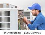 a professional electrician man... | Shutterstock . vector #1157039989