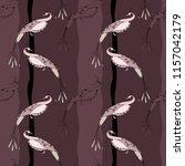 monochrome pattern in brown... | Shutterstock .eps vector #1157042179