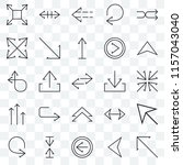 set of 25 transparent icons... | Shutterstock .eps vector #1157043040
