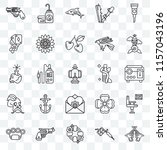 set of 25 transparent icons... | Shutterstock .eps vector #1157043196